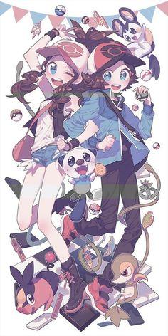 Anita e Alcide Pokemon Noir, Black Pokemon, All Pokemon, Pokemon Fan Art, Pokemon Stuff, Pokemon Images, Pokemon Pictures, Pokemon Hilda, Kawaii