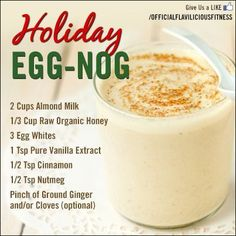 How To Make Homemade Eggnog - Fitness For Women by Flavia Del Monte