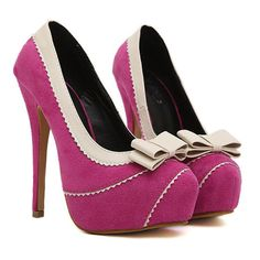 Bow Knot Embellished Rose High Heel Fashion Shoes
