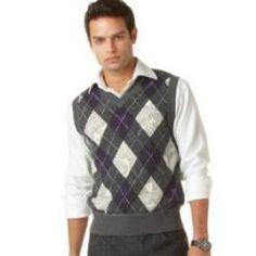 men's style argyle sweater vest