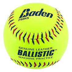 Baden Sports Ballistic Leather Pitching Machine Softball – Set of 12 - http://homerun.co.business/product/baden-sports-ballistic-leather-pitching-machine-softball-set-of-12/