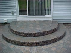 Paver Stone Semi-Circle Steps