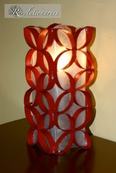 Christmas Candle Re-do using toilet paper rolls