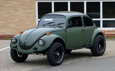 Lifted volkswagen beetle