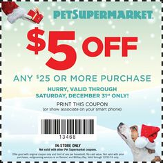 image about Pet Supermarket Printable Coupon identified as 79 Least complicated Pawsome Doggy Specials photographs within just 2019 Balanced animals