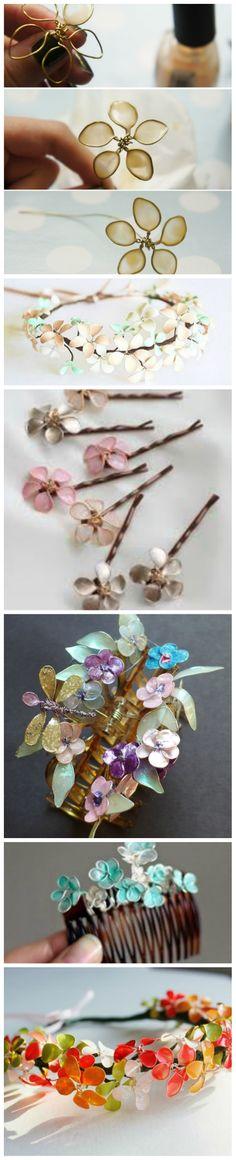 Nail Polish + Wire = Flower Jewelry!