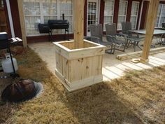 planters by patio posts - Google Search