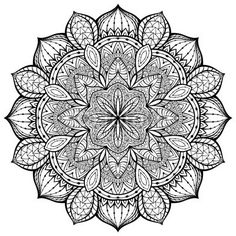 Panel szklany Vector, elegant mandala, with intricate detail.