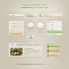 Vanilla Cream UI Kit