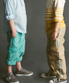 Coastal Cargos roll up pants sewing pattern for boys or girls by Blank Slate Patterns | Go To Patterns