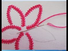 hand embroidery deesign beautifull flower with beads. hand embroidery deesign beautifull flower with beads. Hand Embroidery Patterns Flowers, Embroidery Leaf, Basic Embroidery Stitches, Hand Embroidery Videos, Hand Embroidery Tutorial, Learn Embroidery, Sewing Stitches, Embroidery For Beginners, Hand Embroidery Designs