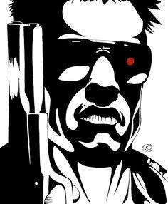 The Terminator by Ble4ch.deviantart.com on @deviantART #80s Arnold