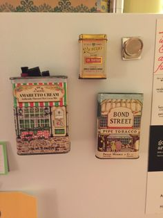 Old tins  that I have put magnets on.