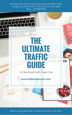 """Free #Giveaway!!!  Discover How You Can Quickly & Easily Get MORE Traffic Using Any of These 110 'Bite-Sized' Traffic Tactics You Can Use Right Now... GUARANTEED!  Follow these steps:  ❥ Follow  ❥ Comment below this pin  ❥ Get your FREE copy of """"The Ultimate Traffic Guide"""" (click the photo)"""