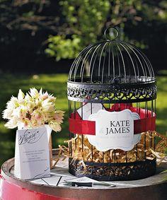 Classic Round Decorative Birdcage - wedding wishing wells - Wedding Reception Accessories - Wedding Reception $30