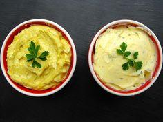 Manteiga de alho e orégãos e manteiga de caril e cominhos