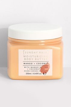 Womens Sunday Rain Mango & Coconut Body Butter - Orange - One Size Pastel Nail Polish, Pastel Nails, Butter Brands, Cool Gifts For Teens, Butter Oil, Makeup To Buy, Body Glitter, Home Made Soap, Skin Tips