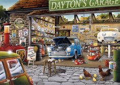 Gibsons Daytons Garage 1000 Piece Jigsaw Puzzle