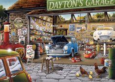 Gibsons Daytons Garage 1000 Piece Jigsaw Puzzle