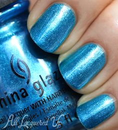 China Glaze Holiday 2013 – Happy HoliGlaze Nail Polish Swatches and Review – So Blue Without You