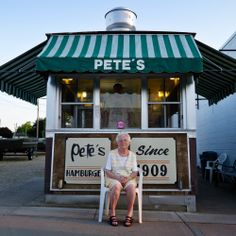 """#3564 - Pete's Hamburgers in Prairie du Chien, WI (""""For Love & Money"""" from the Wisconsin Historical Society Press)"""