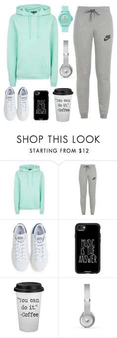 """Untitled #146"" by nefedovalera ❤ liked on Polyvore featuring Topshop, NIKE, adidas, Casetify, Beats by Dr. Dre and Skechers"