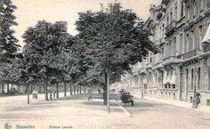 Avenue Louise Avant 1840, l'avenue de la Toison d'Or se présentait sous forme d'un immense glacis. Peu de maisons y étaient construites. De la porte de Namur à la Porte de Hal, il n'y avait pas une seule communication directe entre la ville et les faubourgs d'Ixelles et de Saint-Giles. A l'Est de cette avenue s'étendaient des terrains accidentés, coupés par le profond vallon de Ten Bosch. On y voyait à côté de grandes maisons de campagne, des champs, des prairies et des terrains vagues. Bosch, Hui, Vintage Postcards, Champs, History, City, Places, Outdoor, Big Houses