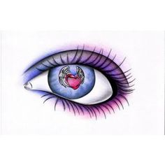Watching love fly away...heart in eye tattoo, beautiful!