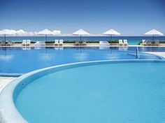 Swimming Pool at Live Aqua Beach Resort Cancun.