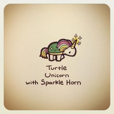 Turtle Unicorn with Sparkle Horn