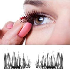 1 Pairs 0.2mm Classic 3D Magnetic False Eyelashes Extension Tools Natural Makeup X8142