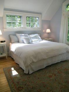 Dormer Bedroom shed dormer inside bedroom, small windows above bed | master