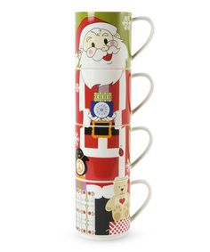 Maxwell & Williams Santa Stacking Mug Set Christmas 2015, Mugs Set, Cute Gifts, Holiday Ideas, Santa, Invitations, Gift Ideas, Holidays, Home