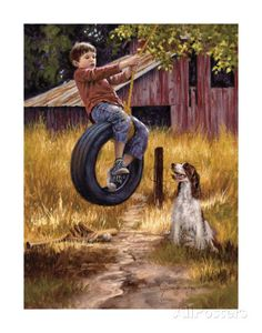 Jim Daly - Carefree Days - Complete colection of art, limited editions, prints, posters and custom framing on sale now at Prints. Pin Ups Vintage, Retro Vintage, The Animals, Country Art, Country Life, Norman Rockwell, Belle Photo, Monet, Painting & Drawing