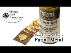 How to Patina Metal with Liver of Sulphur - YouTube free tutorial from The Potomac Bead Company. Potomac bead company has hundreds of tutorials on YouTube and tens of thousands of products (gemstones, crystals, glass, seed beads, pendants, silver, findings, tools & more) in retail bead stores and on TheBeadCo.com!