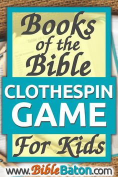 Easily memorize the books of the Bible with a fun hands-on activity! This unique books of the Bible clothespin game makes learning the books of the Bible a breeze for kids and teens–perfect for teaching in your Sunday School, children's ministry, homeschool, or family devotions. For the books of the Bible clothespin game instructions (plus a free printable for the books of the Bible!) click through now.