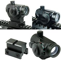 Spike Tactical Reflex Red Green Dot Sight Scope w Dual High  Low Profile Rail Mounts Airsoft Hunting *** See this great product. This is an affiliate link.