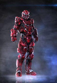 Old Red Ranger Design, justin fields on ArtStation at https://www.artstation.com/artwork/WYeWE