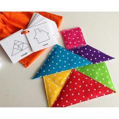 $20.00 Fabric Tangram Set by LolliPoppits on Handmade Australia