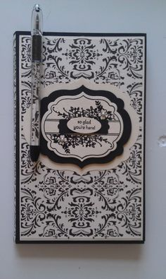 adorable Stampin UP black and white card
