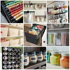 sewing room organization ideas | One Can Dream … Sewing Room Ideas | Yellow Mae