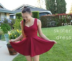 Laugh Love Live Dance: The Little Red Skater Dress-Sewing DIY