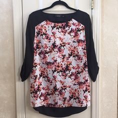 NWOT Blouse Never worn top with hi-low hem and cutout in back. Apt. 9 Tops Blouses