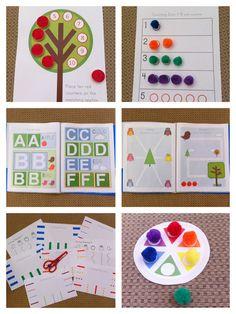 preschool printable tot pack