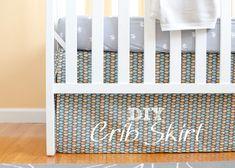 Nursery Progress : DIY Crib Skirt and Lazy Mitered Corner Hem - The Golden Sycamore