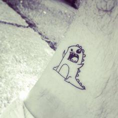 Cute Tiny Tattoos | Dinosaur Cartoon Tattoo « Cool Tattoos Online