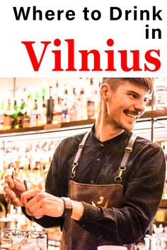 Drinking in Vilnius is a must during any visit to the capital of Lithuania. Check out 10 Vilnius bars and and pubs where you can drink beer, wine, cider, mead and cocktails. | Vilnius Bars | Vilnius Pubs | Vilnius Beer | Vilnius Craft Beer | Lithuanian Beer | Craft Beer in Vilnius Drinking Around The World, All Beer, Drink Beer, Mead, Lithuania, Yummy Drinks, Craft Beer, Brewery, Cocktails
