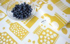 """Marjaonni"" tea towels 2012. Design by Polkka Jam 2011."