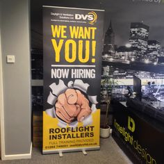 One of our best sellers is pull up banners. We recently designed and printed this pull up banner for DVS, helping them to showcase and promote the fact they are looking to hire new members of staff within their business.