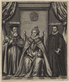 Queen Elizabeth I; Sir Francis Walsingham; William Cecil, 1st Baron Burghley by William Faithorne (2) - William Cecil, 1st Baron Burghley - Wikipedia, the free encyclopedia